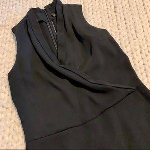 Black Topshop tuxedo skort romper